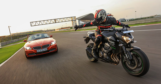 BMW Z4 SDrive35i Vs Kawasaki Z800 ZX 14R Comparison Report