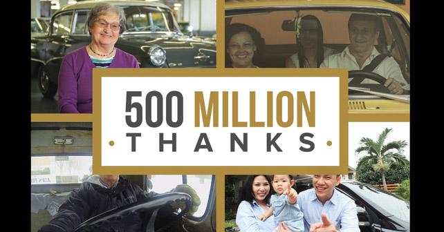 General Motors celebrate its 500 millionth vehicle