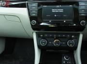 New Skoda Superb centre console