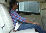 New Skoda Superb rear seat space