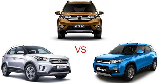 Honda Br V Vs Hyundai Creta Vs Maruti Suzuki Vitara Brezza Specs