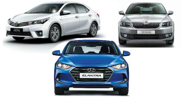 2016 Hyundai Elantra Vs Skoda Octavia Vs Toyota Corolla Altis: Spec  Comparison