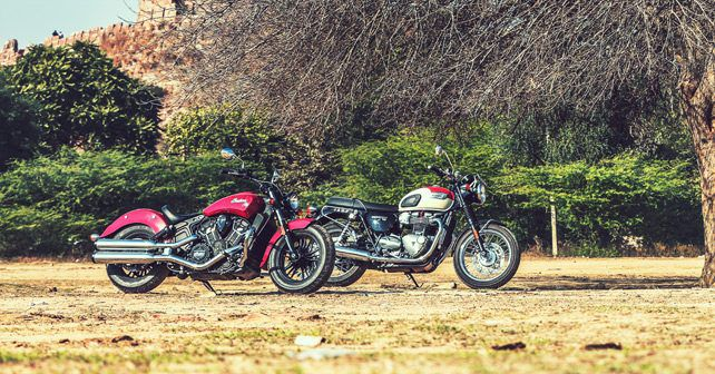 Indian Scout Sixty Vs Triumph T100 Comparison Review Autox
