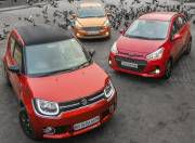 Maruti Ignis vs Hyundai Grand i10 vs Ford Figo