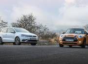 VW Polo GTI vs Mini Cooper S JCW gal