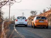 VW Polo GTI vs Mini Cooper S JCW rear gal