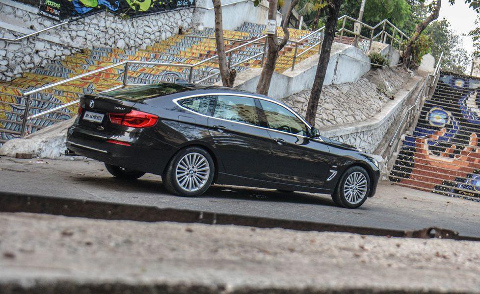 BMW 3GT 330i rear three quarter gal