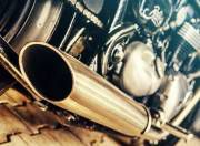 Triumph Bonneville Bobber slash cut exhaust