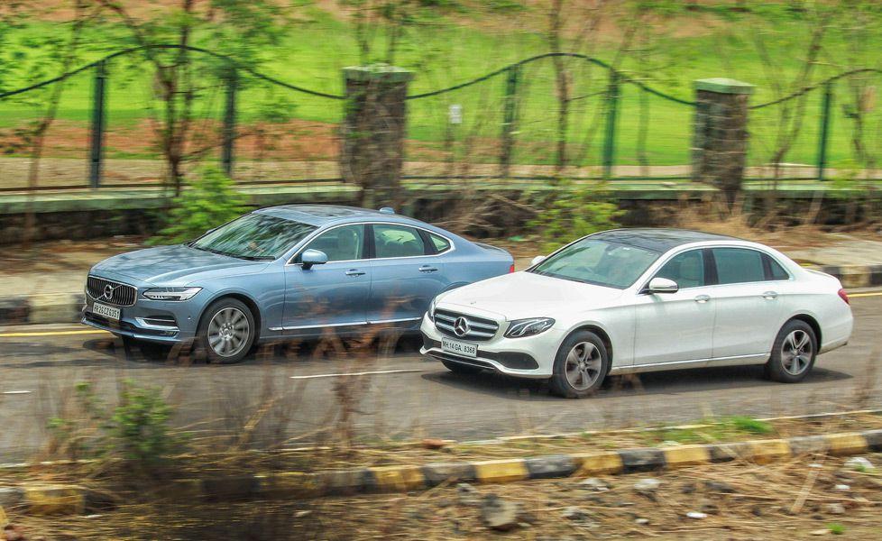 Mercedes Benz E Class vs Volvo S90 motion2 Gal