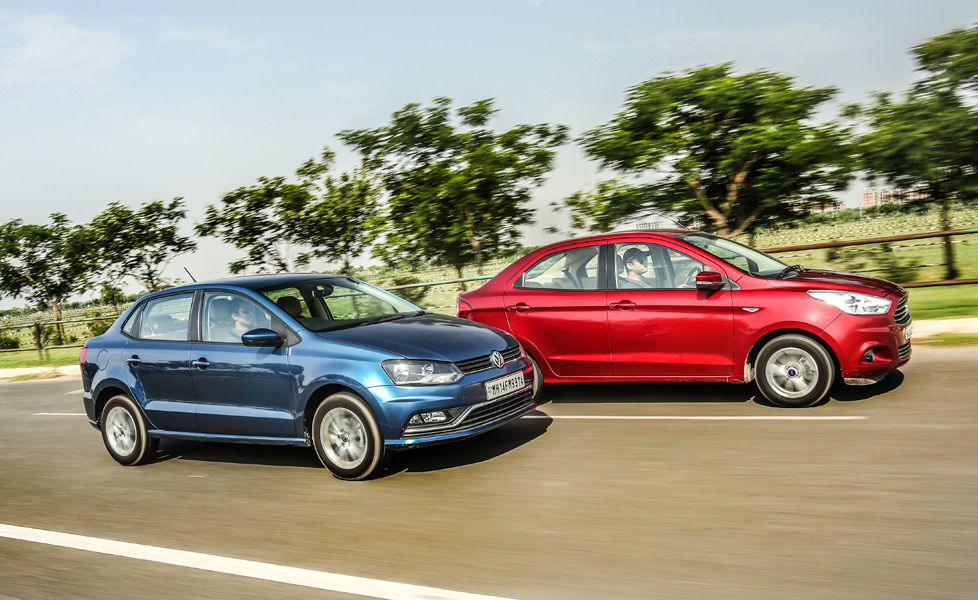 ford aspire vs volkswagen ameo gal