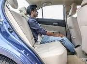 maruti suzuki dzire rear seat space gal