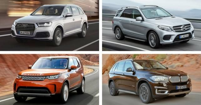 Audi Q7 Vs Land Rover Discovery Vs Mercedes Benz GLE Vs BMW X5: Petrol Spec  Comparison