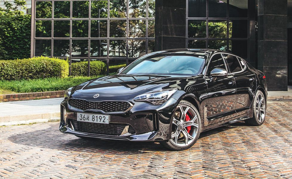 kia stinger gt front three quarter gal