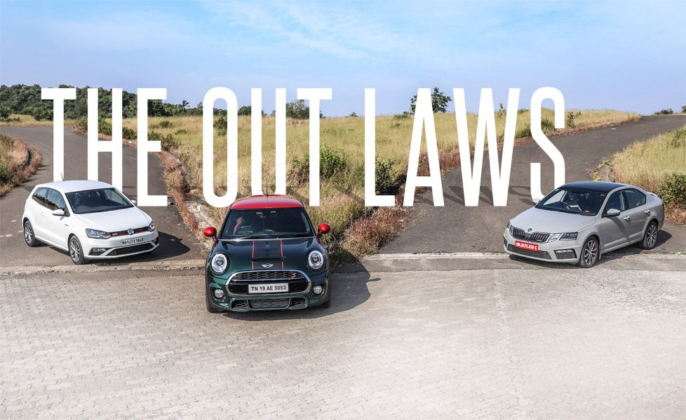 Octavia RS vs Polo GITI vs MINI Cooper S1 gal