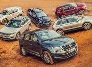 Skoda Kodiaq vs Volkswagen V vs Jeep Compass vs Tata Hexa XT AWD vs Isuzu MU X vs Ford Endeavour 3 2 AT 4x4