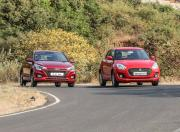 Maruti Suzuki Swift vs Hyundai Elite i20 front view