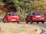 Maruti Suzuki Swift vs Hyundai Elite i20 rear view