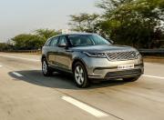 Range Rover Velar front three quarter action