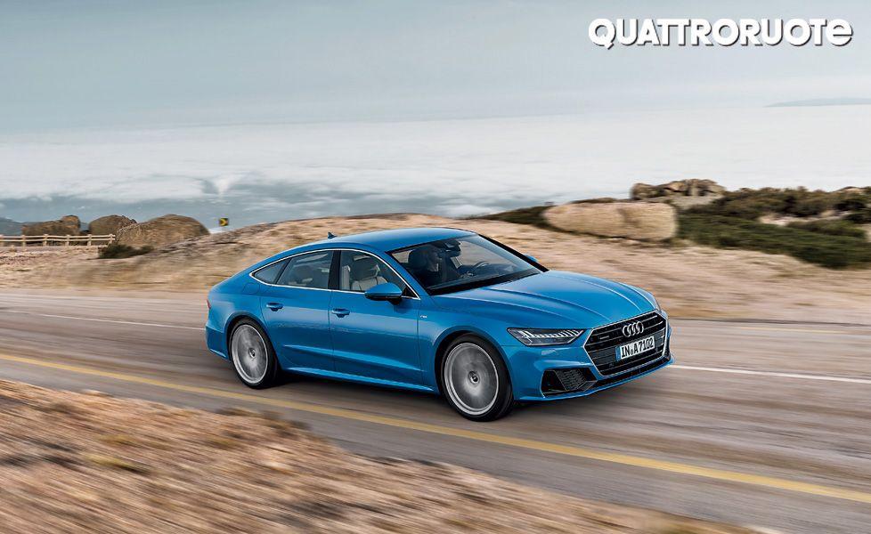 Audi A7 50 TDI front three quarter2