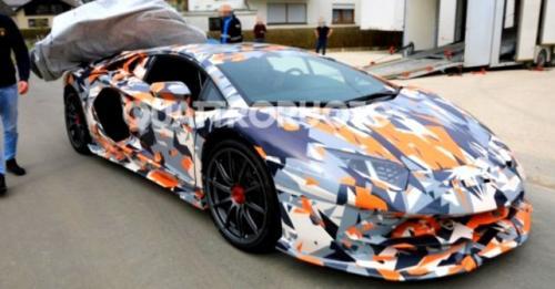 Lamborghini Aventador SVJ Spied