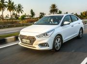 hyundai verna front three quarter action