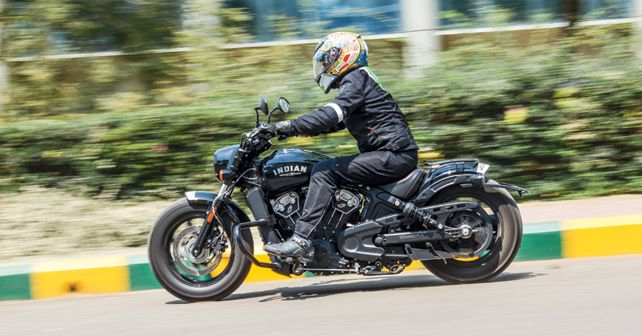 Indian Scout Bobber Action1
