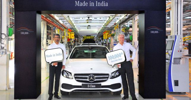 Mercedes Benz 1 Lakh Car Manufactured In India