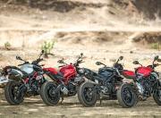 Ducati Monster vs MV Agusta Brutale vs Triumph Street Triple S vs Aprilia Shiver2