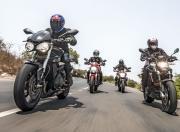 Ducati Monster vs MV Agusta Brutale vs Triumph Street Triple S vs Aprilia Shiver4