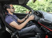 ferrari 488 pista driving shot