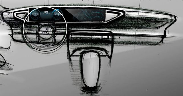 2019 Mercedes Benz GLE Inetrior Sketch 3