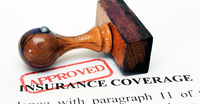 nsurance Coverage Wooden Stamp