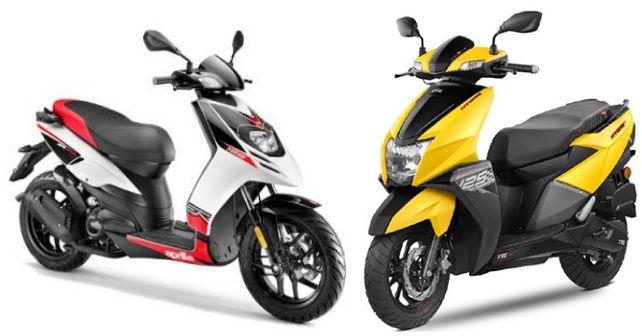 Top 5 Scooters In India Aprilia Sr150 Tvs Ntorq M