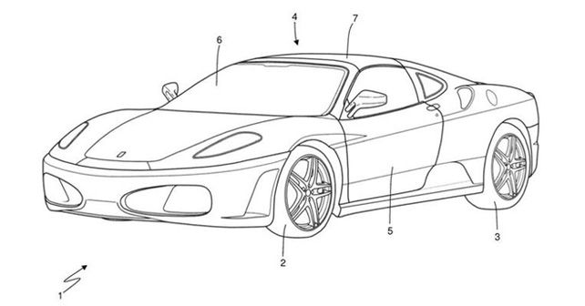Ferrari Targa Patent Image
