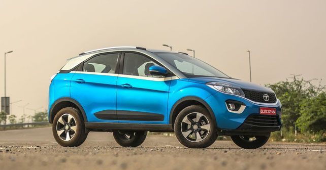 Tata Nexon XZ Front Three Quarter1