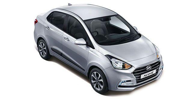 Hyundai Xcent Top Angle