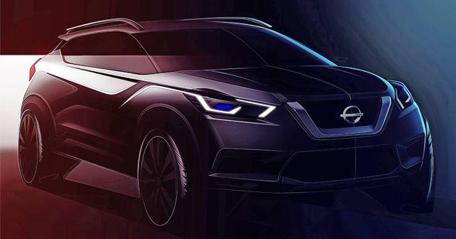 2019 Nissan Kicks India Spec Sketch Front