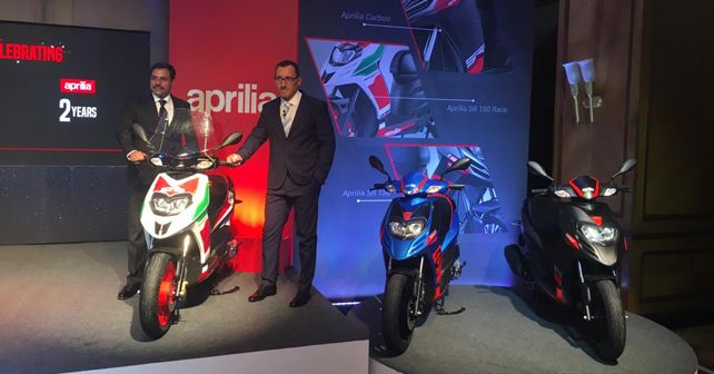 2018 versions of the Aprilia SR 150 scooter