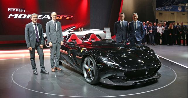 Ferrari Monza SP2 At Paris Motor Show 1