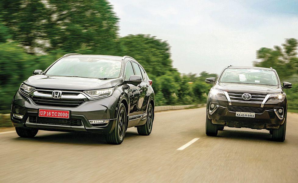 Honda CR V vs Toyota Fortuner