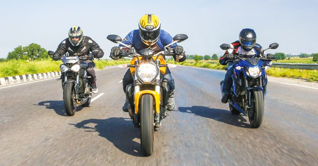 Street Triple RS vs GSX-S750 vs Monster 821: Comparison - autoX