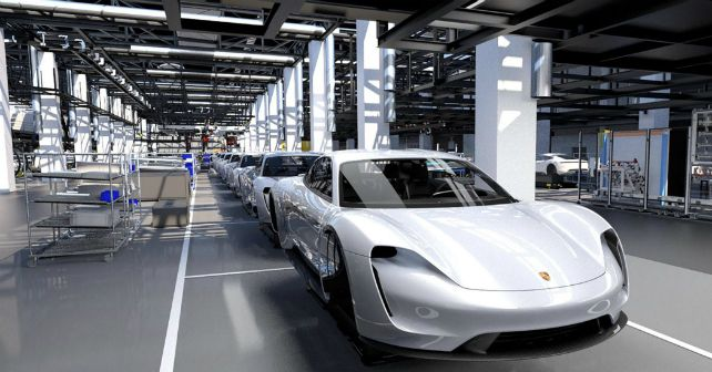 POrsche Taycan Production Flexi Line M