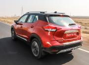 nissan kicks image rear three quarter