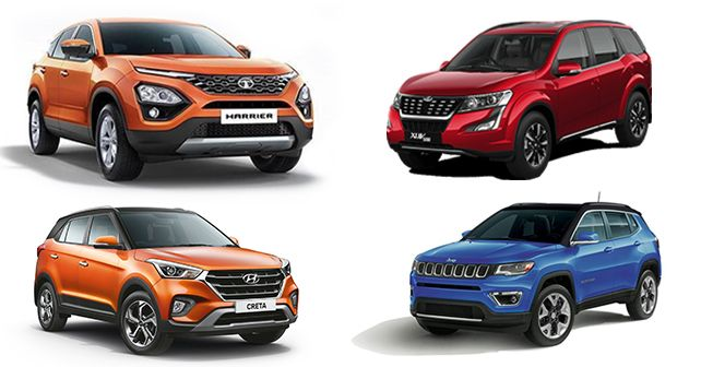 Tata Harrier Vs Mahindra Xuv500 Vs Hyundai Creta Vs Jeep Compass