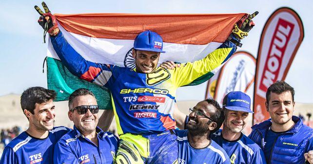 Aravind KP 2019 Dakar Finish