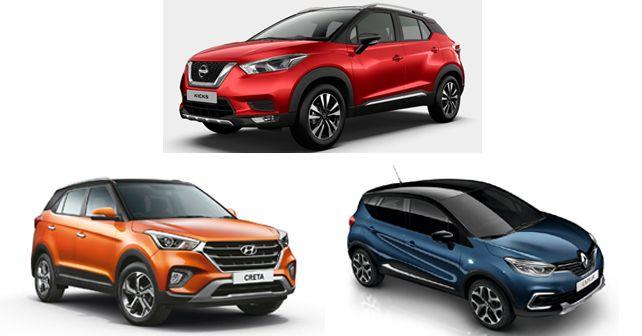 Nissan Kicks Vs Hyundai Creta Vs Renault Captur