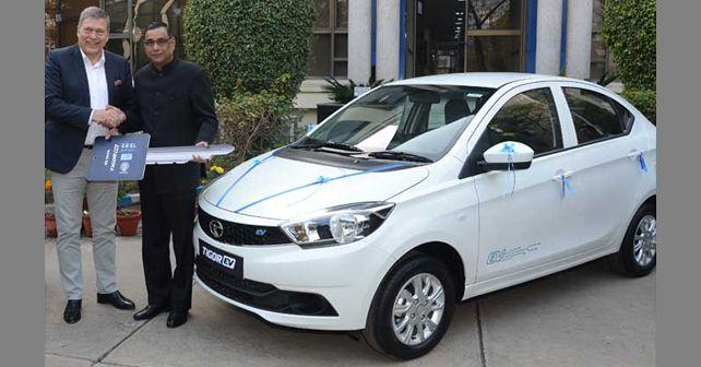 Tata Tigor EV handover to EESL