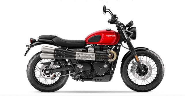 2019 Triumph Street Scrambler Red Side Profile View