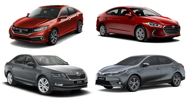 Civic Vs Elantra Vs Corolla Altis Vs Octavia