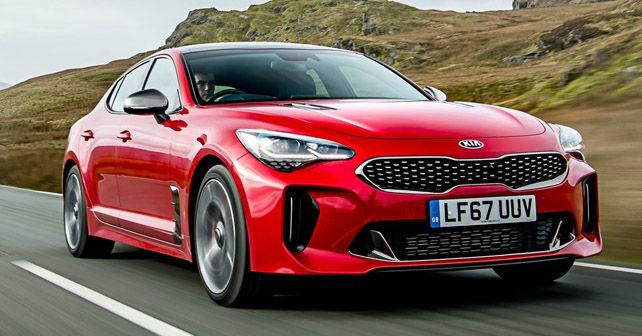 Kia Stinger GT Front Dynamic India Dealership Noida